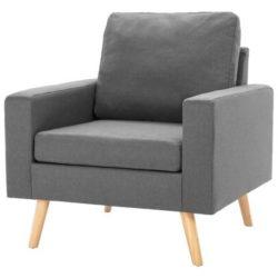 Lichtgrijze Scandinavische fauteuil Koppla