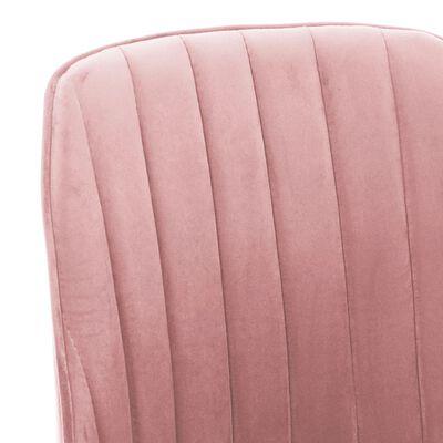 Roze moderne eetkamerstoelen Karla