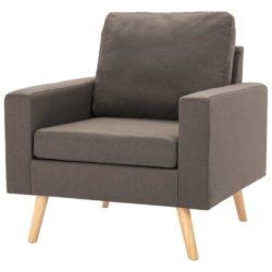 Taupe Scandinavische fauteuil Koppla