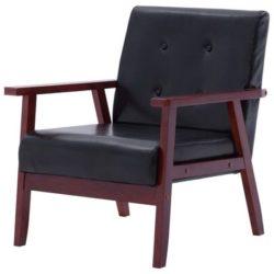 Zwart Scandinavisch fauteuil Jorg