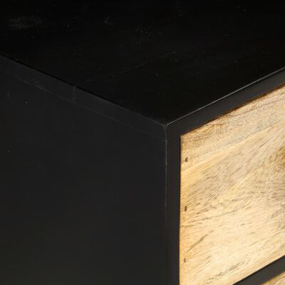 Zwart dressoir met mangohout Bo