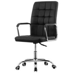 Zwarte bureaustoel Office met armleuning