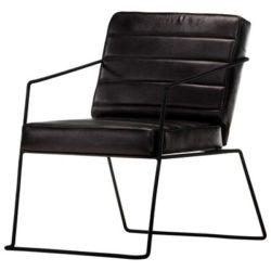 Zwarte vintage fauteuil Gio